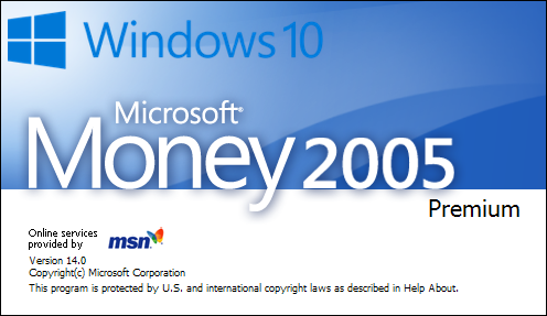 Microsoft Money 2005 Windows 10