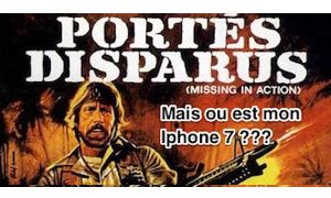L' iphone 7 a disparu !!